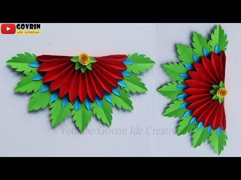 Wall Decoration ideas - Keren Membuat Hiasan Dinding Cantik dari Kertas Origami | Creative craft