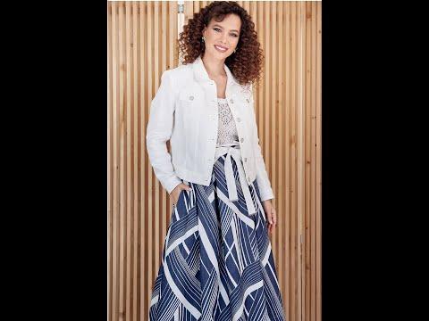 Стильный женский костюм Мода-Юрс 2400 belyj sinij