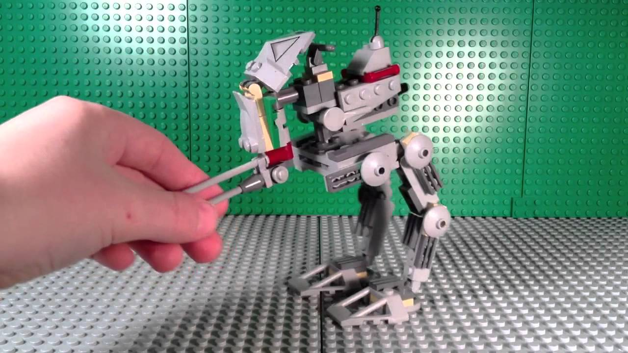 Lego Star Wars 7250 Clone Scout Walker Review Youtube