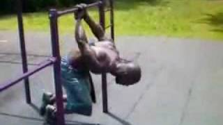 Strong Man In Park