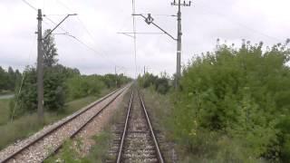 Odcinek Idzikowice - Radom z tyłu pociągu EIC Ondraszek