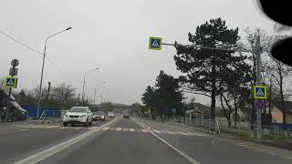 ИЗ Анапы в Краснодар, все поселки по пути. ноябрь 2018