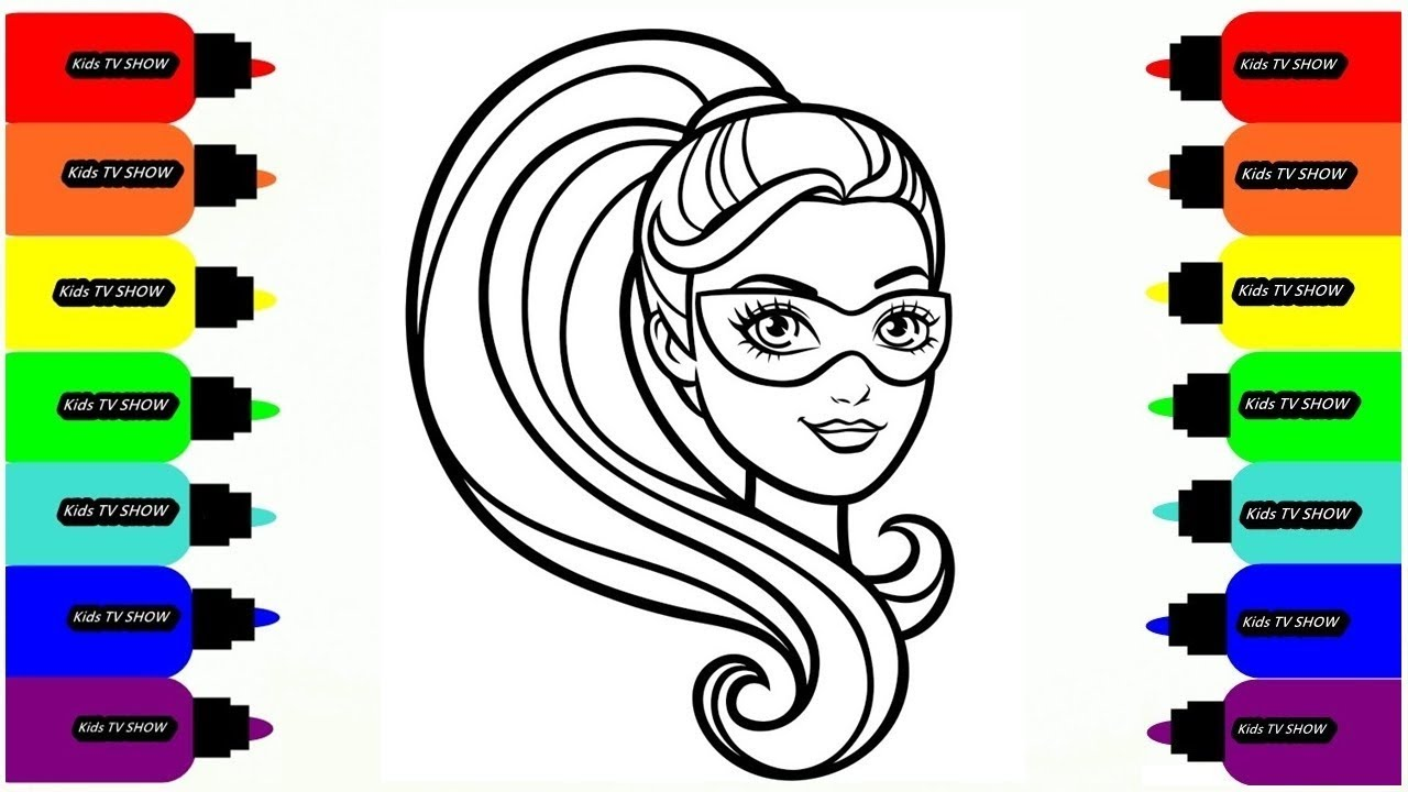 Barbie Cartoon Coloring // Coloring Pages for Girls // Drawing for ...