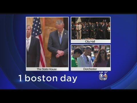 Moment Of Silence Marks Third Anniversary Of Boston Marathon Bombing