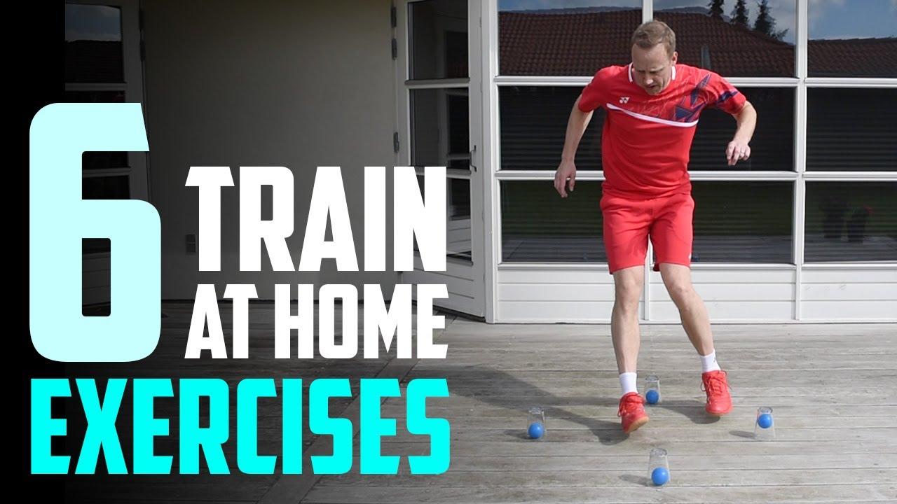 6 Badminton Exercises AT HOME - Footwork & racket