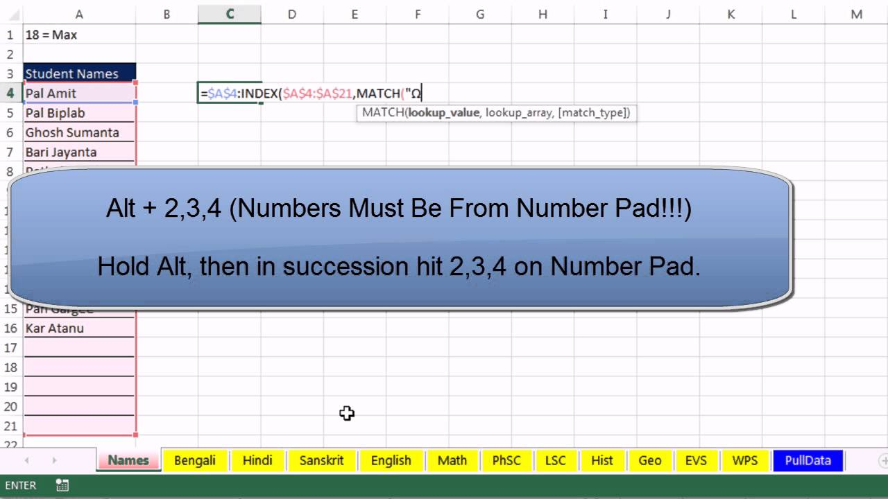 Excel Magic Trick 1063: Pull Student Grades From Many Sheets onto ...
