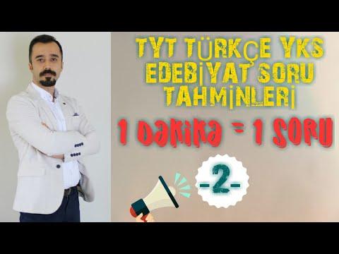 TYT TÜRKÇE / YKS EDEBİYAT SORU...