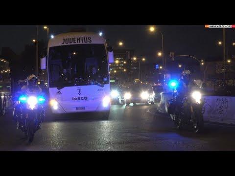 Arrivo Autobus  Della Juventus Allo Wanda Metropolitano.  Atlético-Juventus 2019