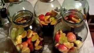 Рецепт компота из черноплодной рябины (Аронии) с яблоками .