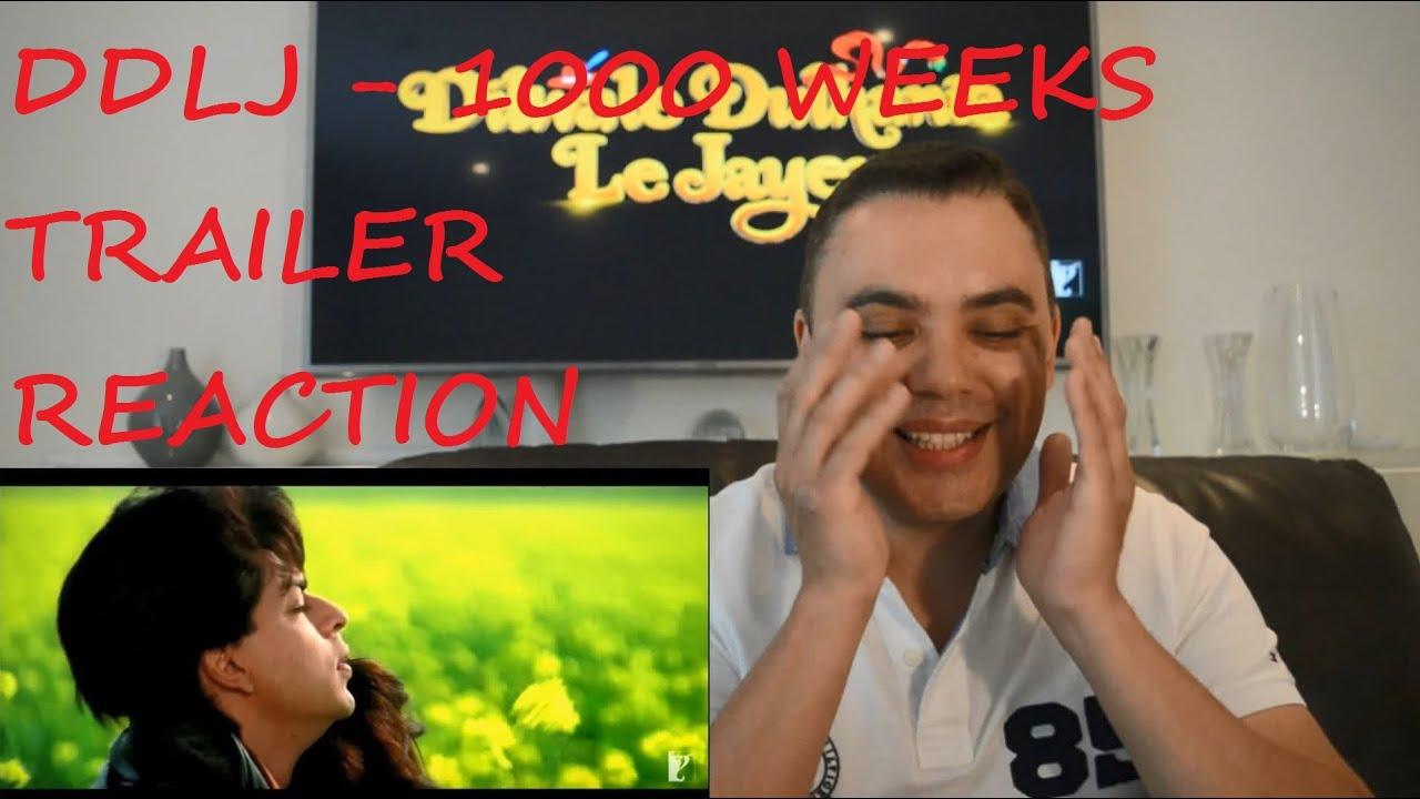 robert react dilwale dulhania le jayenge trailer reaction