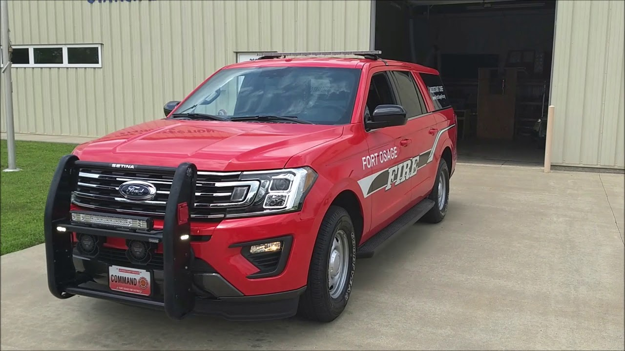 2018 Ford Explorer >> 2018 Expedition Max SSV - FOFPD - Fire Command - YouTube