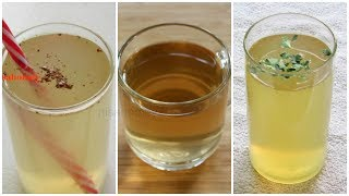 3 Fat Burning Drinks - How To Lose Belly Fat - 5 KG / 3 Flat Belly Weight Loss Drinks