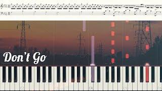 Download Mp3 Exo 엑소 - 'don't Go' '나비소녀' Piano Tutorial  + Easy Key  피아노 튜