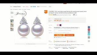 Китайские украшения с жемчугом. Серебреные серьги E011(, 2015-12-25T18:18:56.000Z)