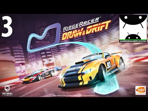 Ridge Racer Draw And Drift Android GamePlay #3 [1080p/60FPS] (By BANDAI NAMCO Entertainment Europe)