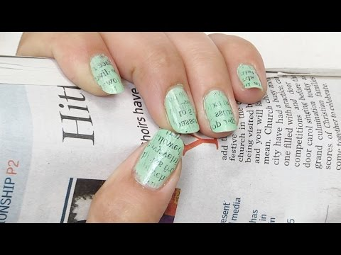 Appealing Newspaper Nail Art To Beautify Your Nails