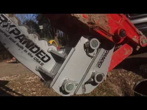 Kubota L2501 backhoe root ripper trench bucket bxpanded quick attach