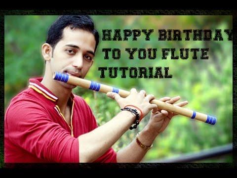 Happy birthday to you tutorial lesson on flute easy for beginner easy tune basuri