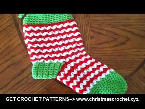crochet christmas stocking ornament quick and easy crochet ...
