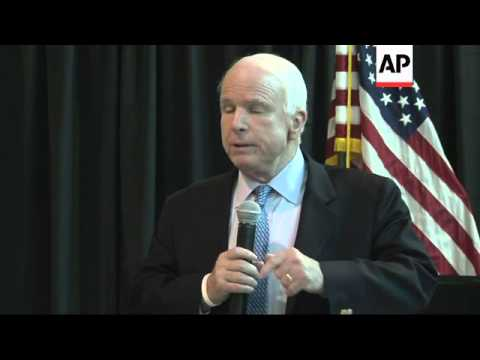 "Arizona Senator John McCain says he respects Eric Shinseki and called him a ""brave soldier,"" but tha"