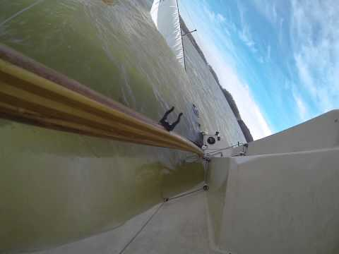Holder 20 Sailboat racing, broach, cold water recover (40 F water), and boat salvage