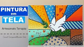 DIY Pintura em Tela estilo Romero Britto - Artesanato Terapia do Compartilhando Arte