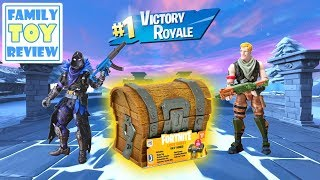Fortnite Toys - Loot Chest Box Unboxing - Fortnite Animated Intro by Family Toy Review