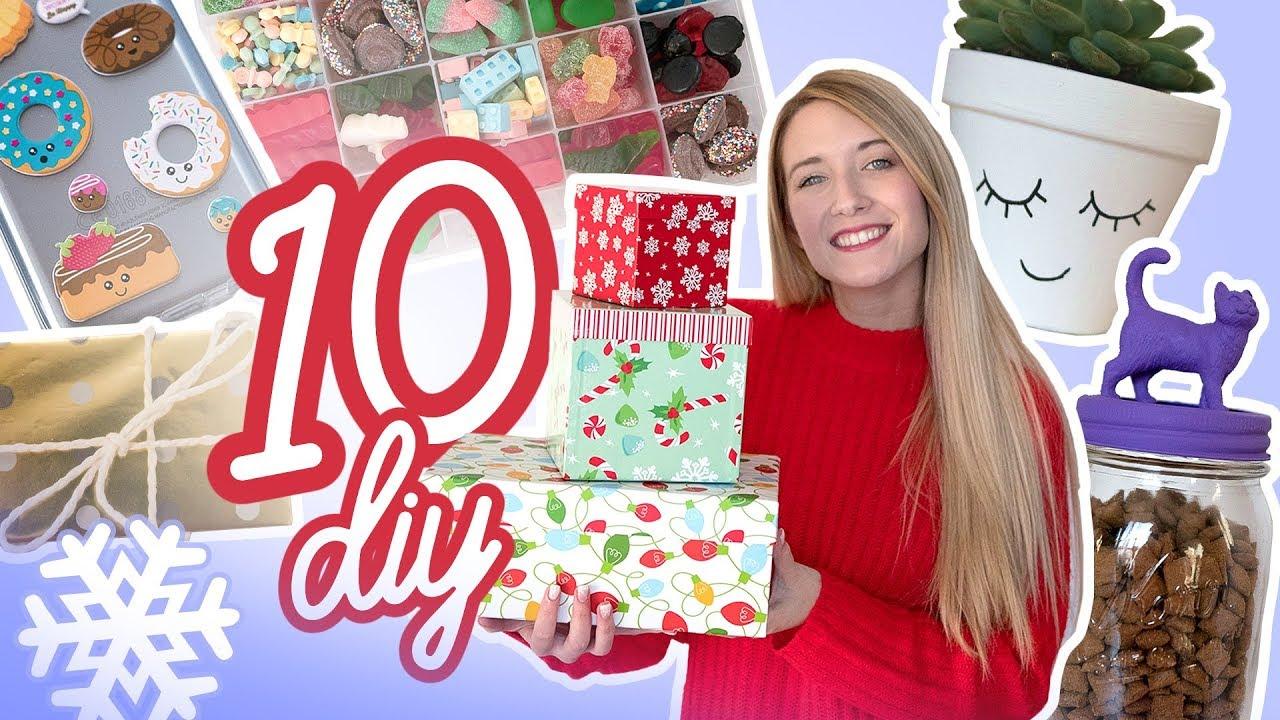 10 Diy Cadeaux De Noel Derniere Minute Youtube