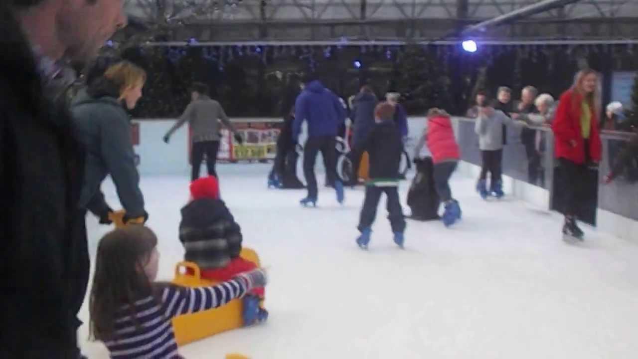 ice skating at cadbury garden centre 1 on 02 01 14 youtube