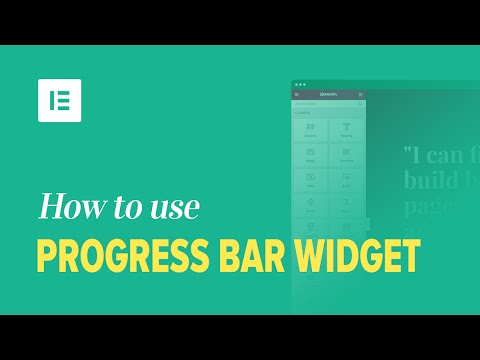Progress Bar Widget - Docs | Elementor