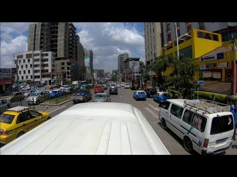 Addis Ababa streetview  : Bus roof pov camera