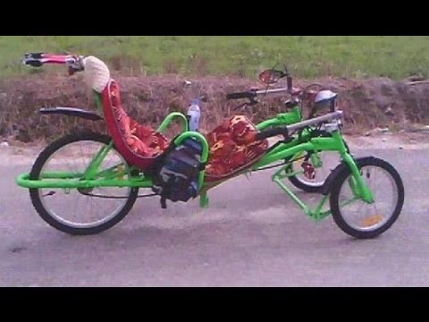 No welding homemade recumbent trike made by 18 year old guy