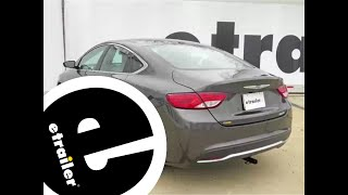 etrailer | Trailer Hitch Installation - 2015 Chrysler 200 - Draw-Tite -  YouTubeYouTube