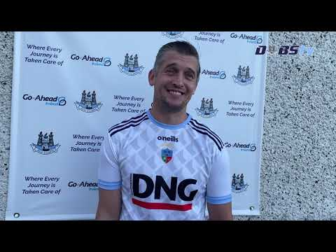 St Judes manager Gareth Roche chats to DubsTV after win over Round Towers Lusk