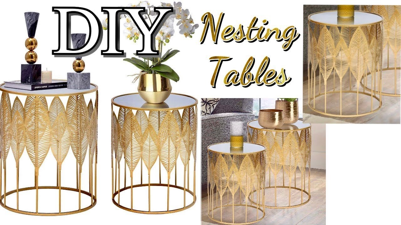 DIY DOLLAR TREE Nesting Tables| DOLLAR TREE UPGRADES! High End Looks For LESS!
