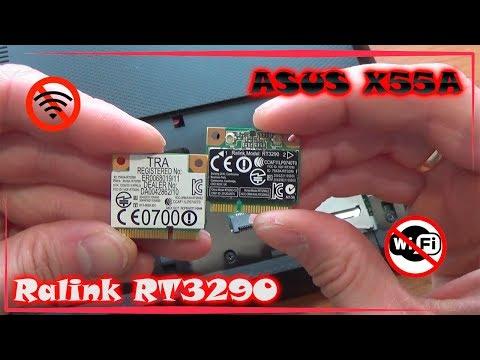 Замена WiFi модуля Ralink RT3290 на ASUS X55A