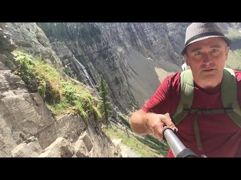 Hardest part of Crypt Lake Trail, Waterton, Alberta
