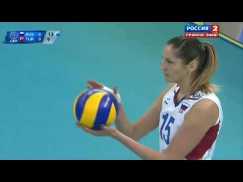 2013 EuroVolley Russia VS Turkey Women Volleyball European