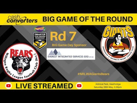 NRL WA Smarter Than Smoking Premiership 2018 Round 7 - Giants v Bears