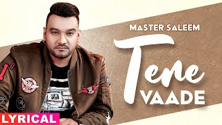 Tere Vaade (Lyrical) | Master Saleem | Latest Punjabi Songs 2020 | Speed Records