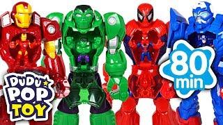 January 2018 TOP 10 Videos 80min Go! Avengers, Power ranger, PJmasks and Transformers  - DuDuPopTOY