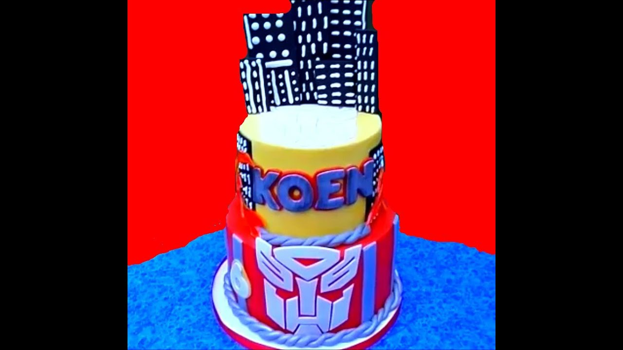 Making A Transformer Cake YouTube