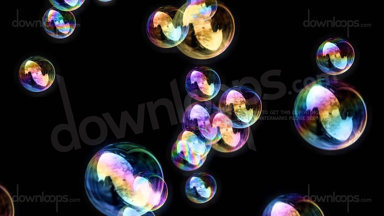 soap bubbles black background calm relaxing motion