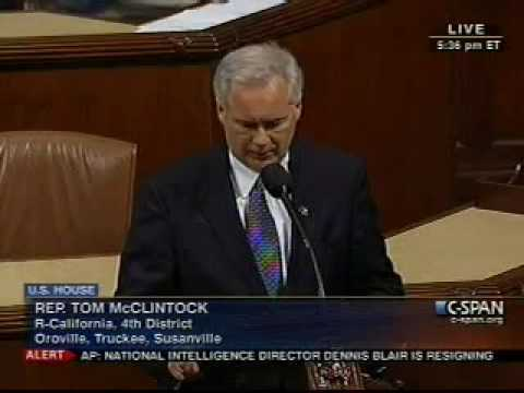 Tom McClintock Gives A GREAT Response To Mexican President Felipe Caldron And His Standing Ovation!