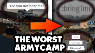 THE WORST ARMY CAMP IN ROBLOX?! | Roblox Lustige Momente/Trolling