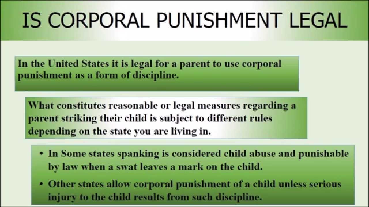 pro corporal punishment