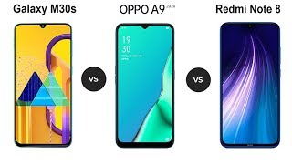 Samsung Galaxy M30s Vs Oppo A9 2020 Vs Redmi Note 8 Speed Comparison in Hindi (2019)