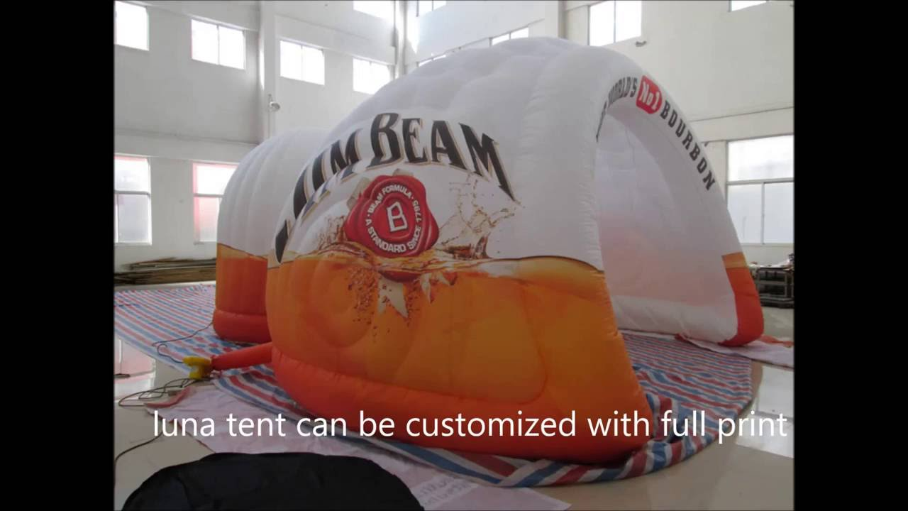 How to Inflate an inflatable Luna Tent with air blower & How to Inflate an inflatable Luna Tent with air blower - YouTube