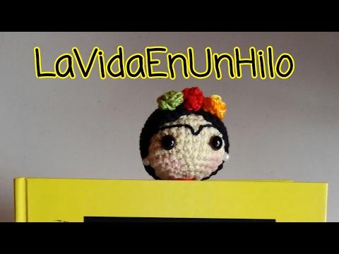 DIY Frida Kahlo amigurumi/ marcapáginas crochet