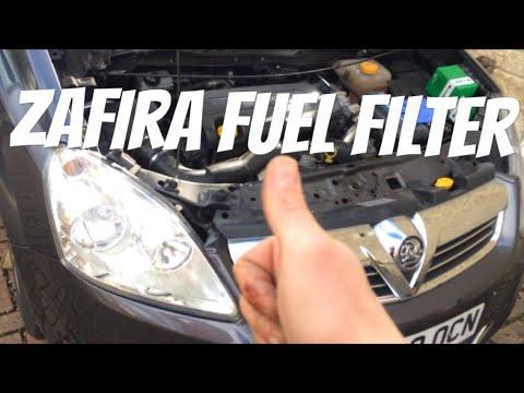 Vauxhall Zafira B Diesel Fuel Filter Change Youtube